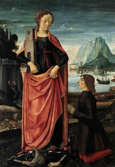 Saint Barbara crushing her father