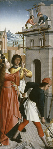 Saint Barbara directing construction