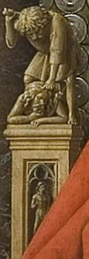 above Adam, Cain killing Abel