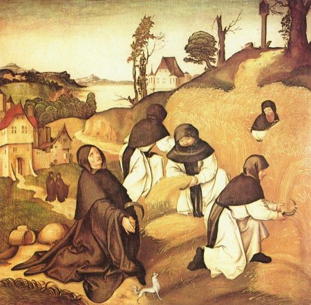 medieval Cistercian conversi at work