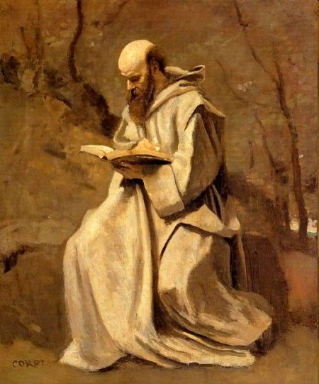 monk studying