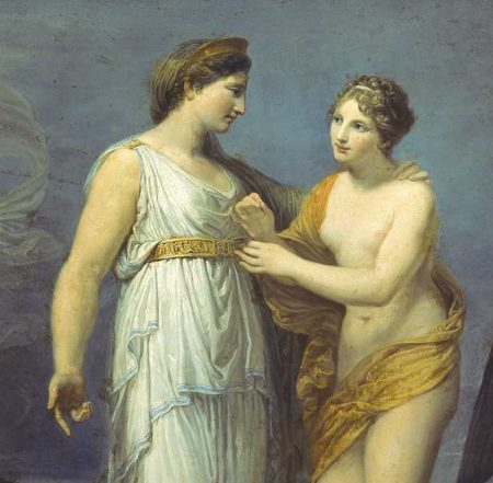 girdle of Venus placed on Hera