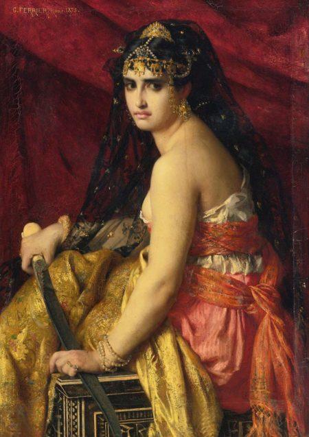 Judith preparing to behead lover