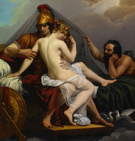 Vulcan catching Mars cuckolding him with his wife Venus