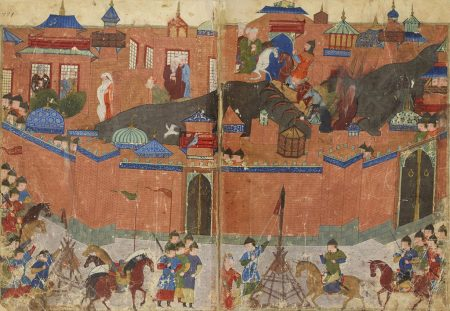 Mongols besieging Baghdad in 1258