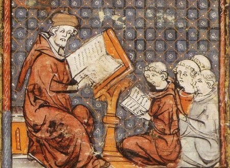 scholars studying at the medieval University of Paris