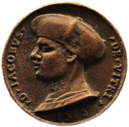 medallion depicting Jacques de Vitry, 1518