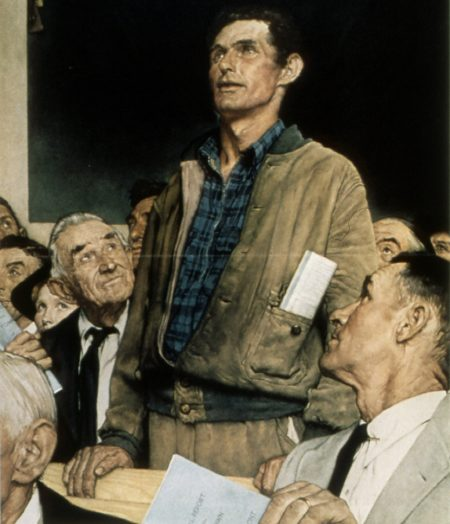 Freedom of Speech (excerpt), Norman Rockwell, 1943