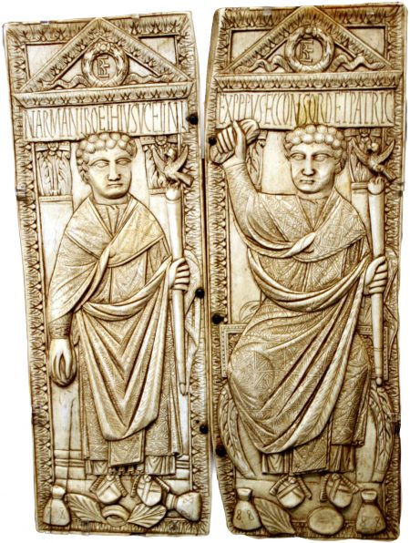 diptych of Boethius's father