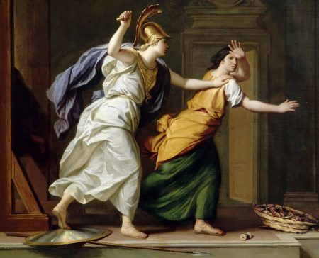 Minerva assaulting Arachne