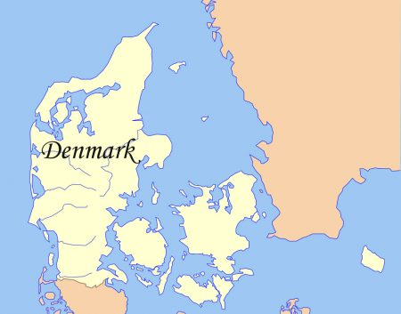 Denmark map outline