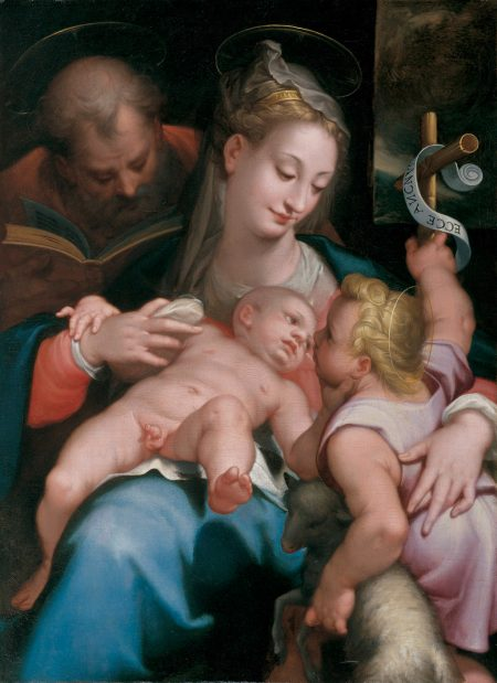 holy family with infant John the Baptist