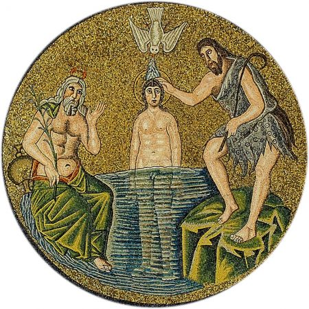 Jesus in the Arian Baptistry mosaic