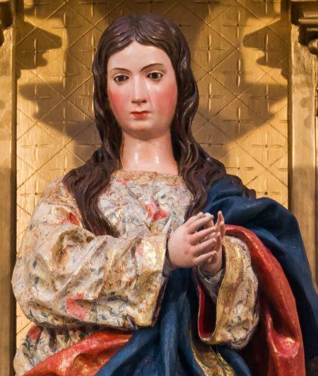 Virgin Mary statue in Monasterio de San Jerónimo, Granada