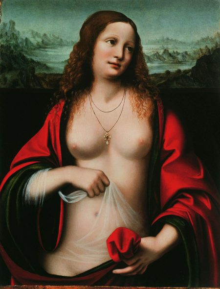 Mary Magdalene with naked breasts