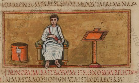 portrait of Virgil from the Vergilius Romanus manuscript