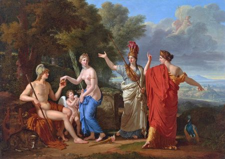 Judgment of Paris with only Venus nude