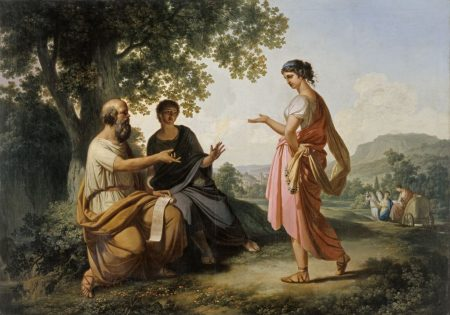 Diotima instructing Socrates