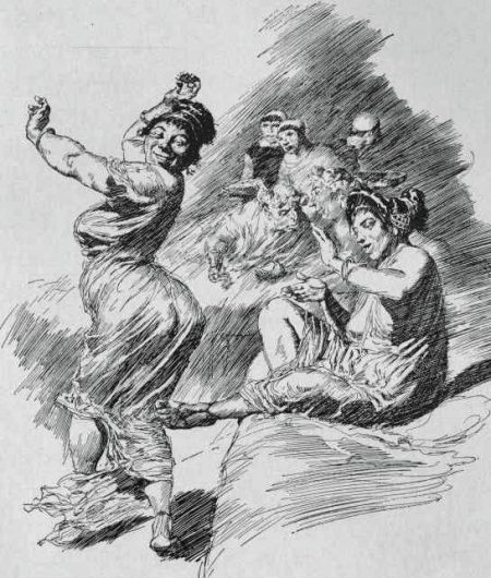 Fortunata dancing the cordax