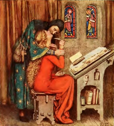 Abelard kissing Heloise