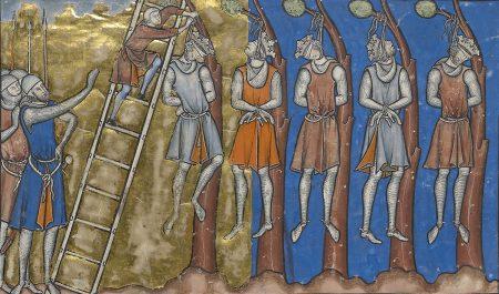 medieval hanging of five kings