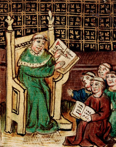 medieval master teaching students