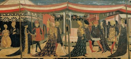 medieval women's dresses with long trains
