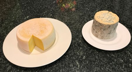 Toma Ossolano and Roquefort cheeses