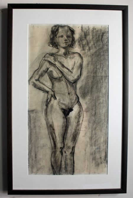 female nude figure drawing