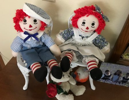 hand-made raggedy Ann & Andy dolls
