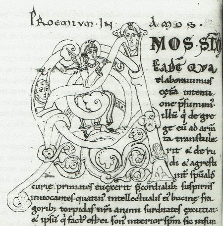 Illumination beginning Guibert's commentary on Amos
