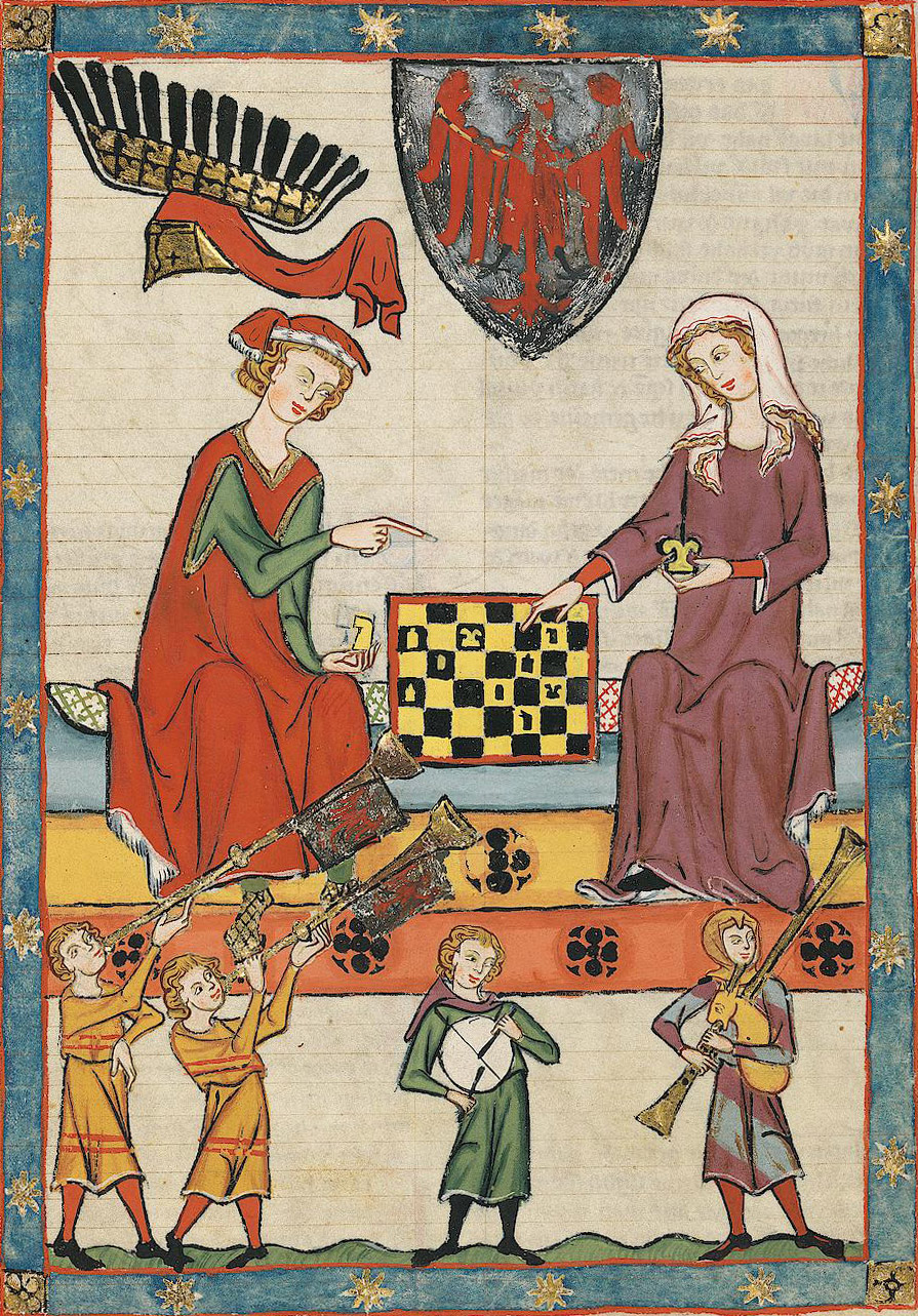 medieval love as chess game