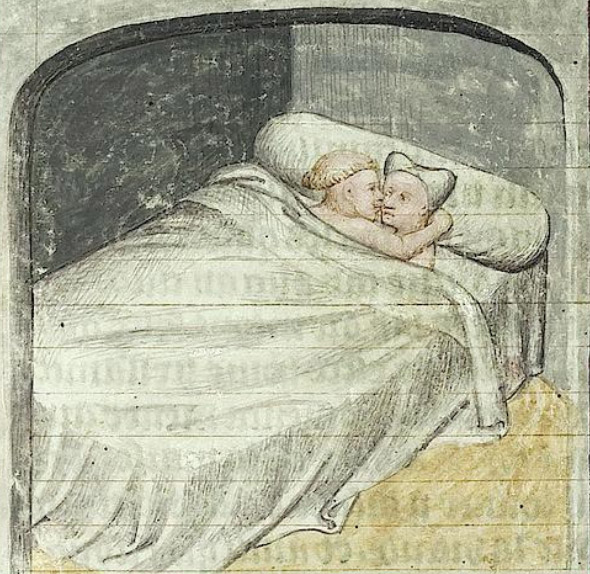medieval couple in bed