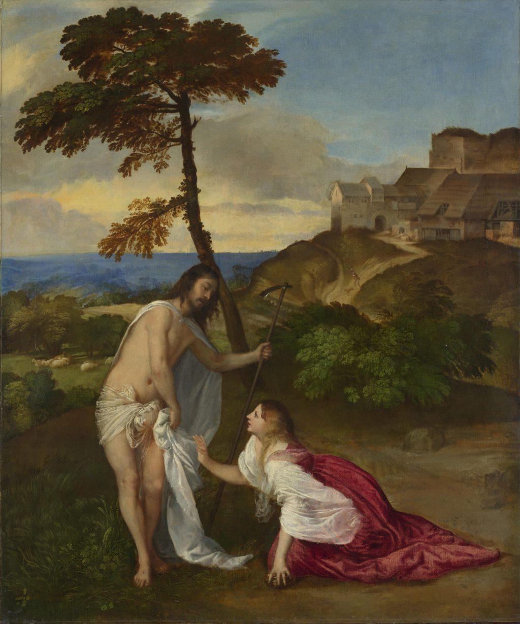 Mary Magdalene clinging to Jesus's flesh