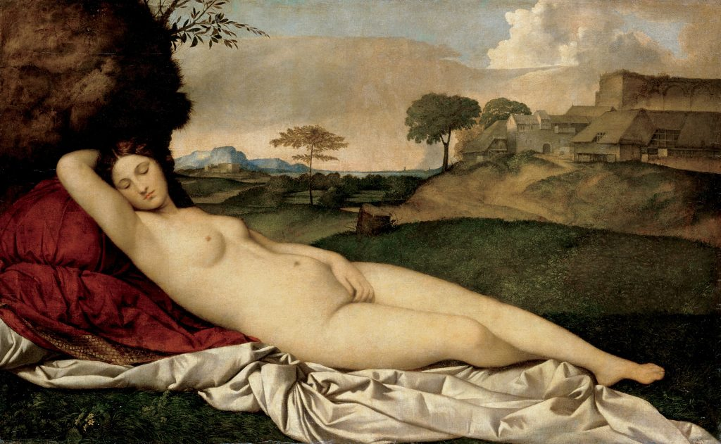 nude woman dreaming