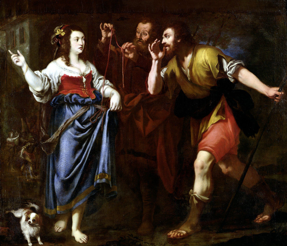 Rahab helping Joshua's spies
