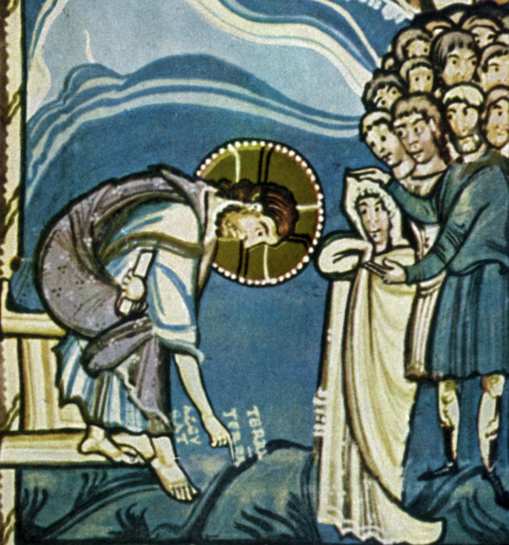 Jesus forgiving woman caught in adultery
