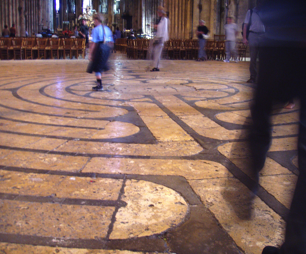 labyrinth at Chatres Cathedral