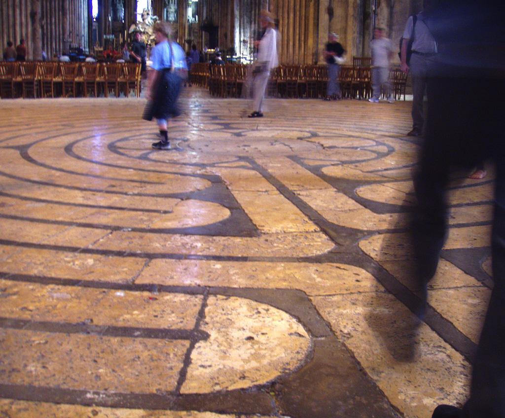 labyrinth at Chatres Cathedral