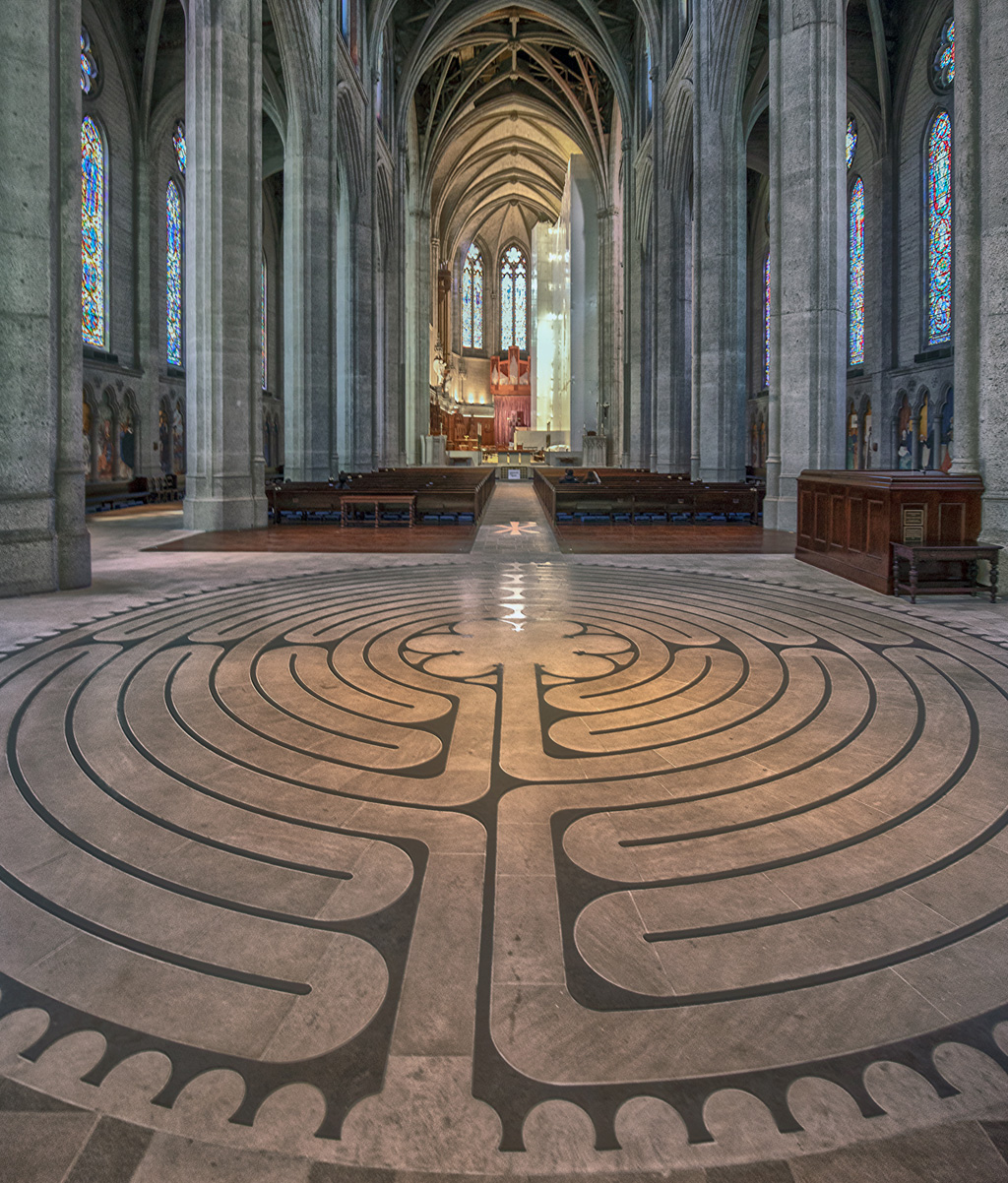 labyrinth in Grace Cathedral