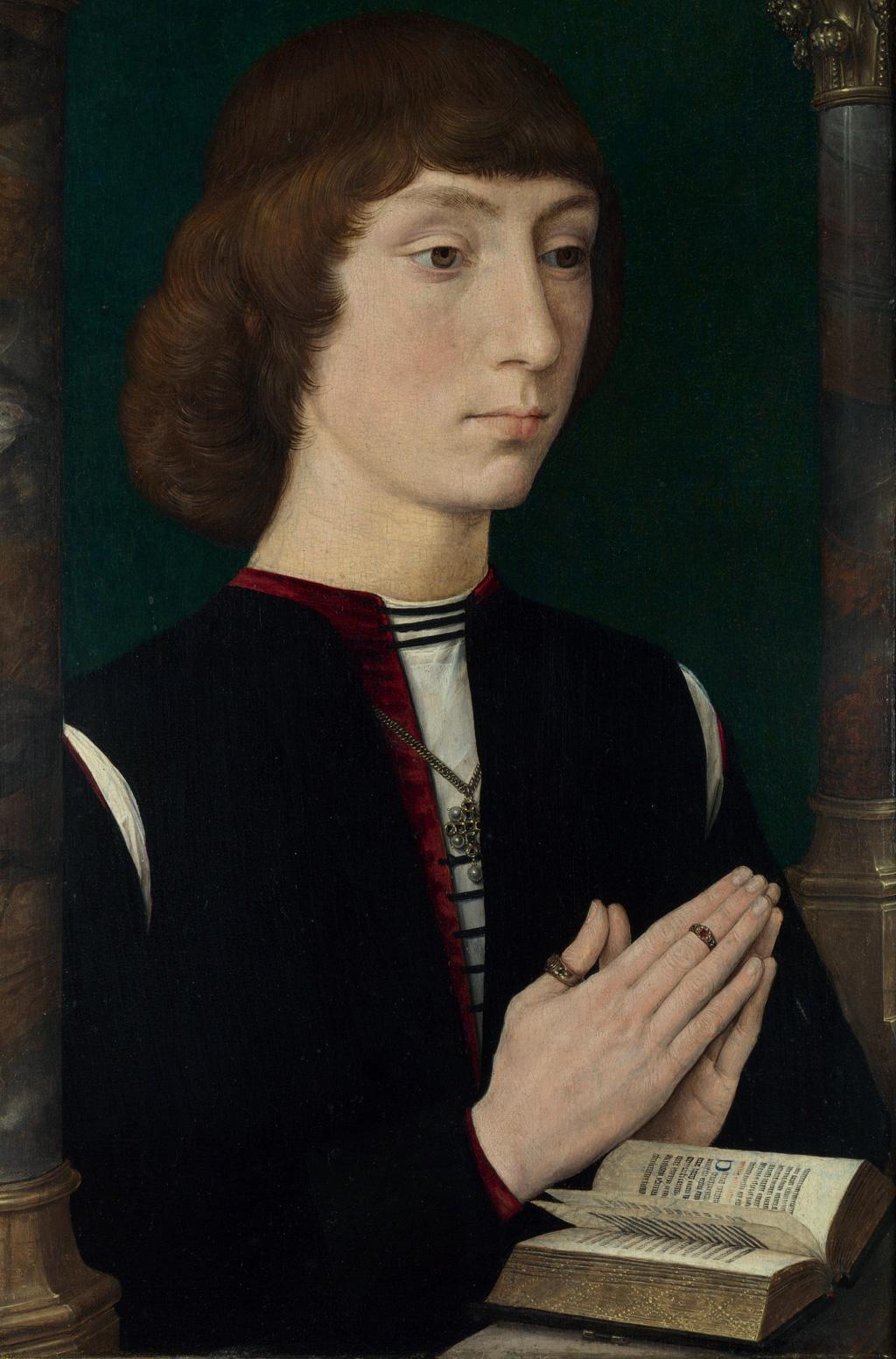 medieval man praying