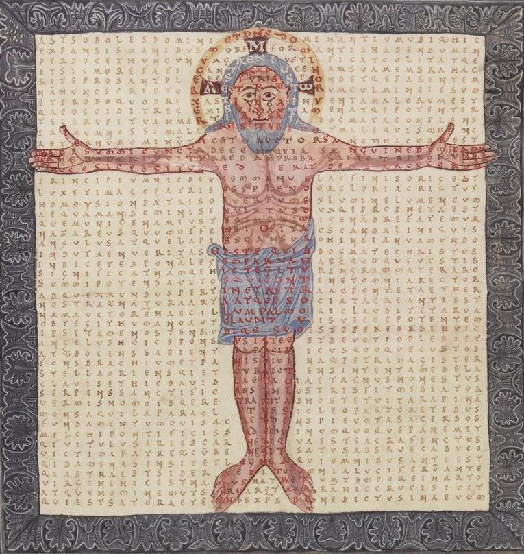carmen figuratum of Christ from Hrabanus's In honorem sanctae crucis