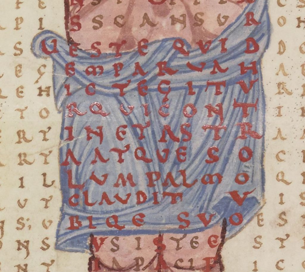 Jesus's loincloth with covering poem