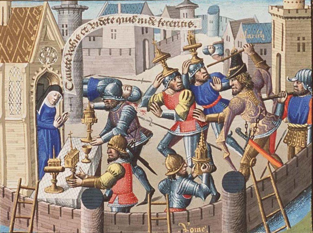 saving sacred vessels in Alaric's sack of Rome
