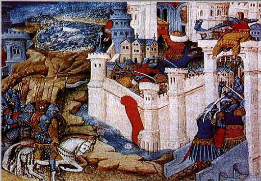 Visigoth Alaric sacks Rome in 410