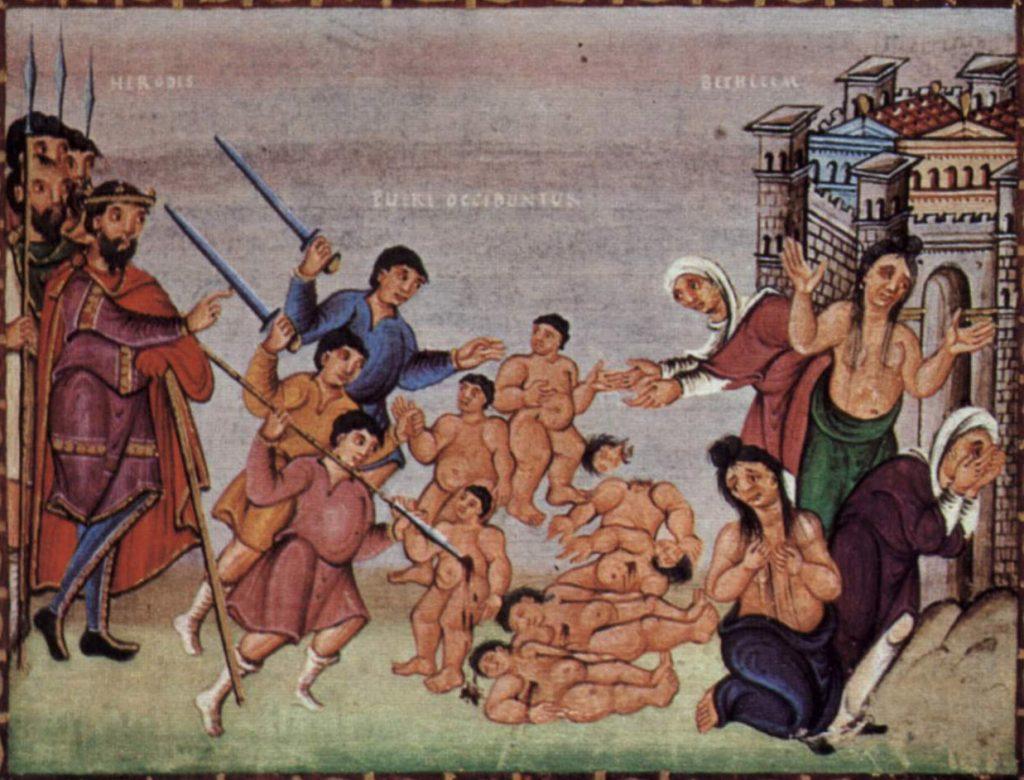 massacre of innocents - boys, from Codex Egberti