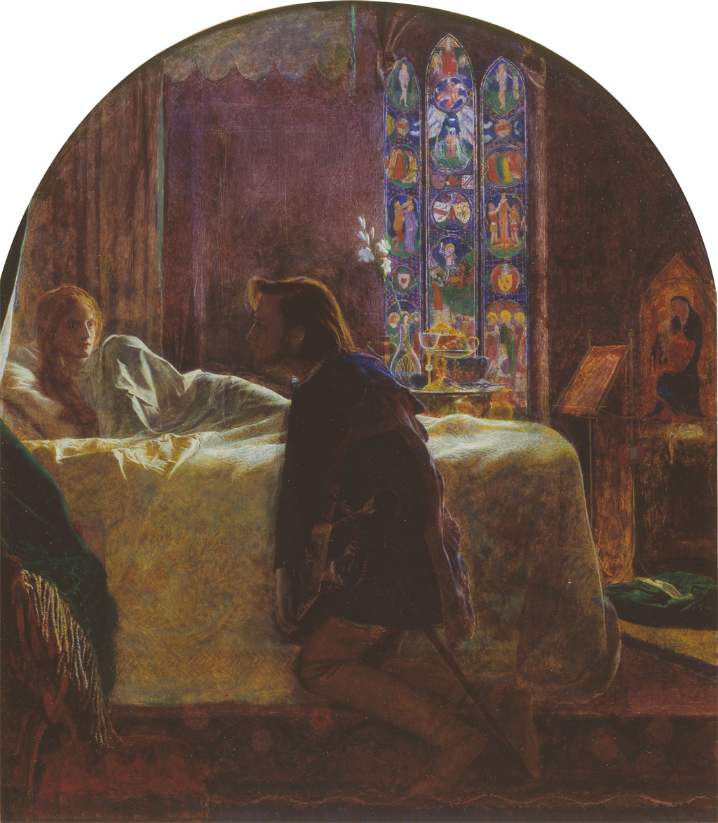 Porphyro realizing St. Agnes's Eve ritual for Madeline