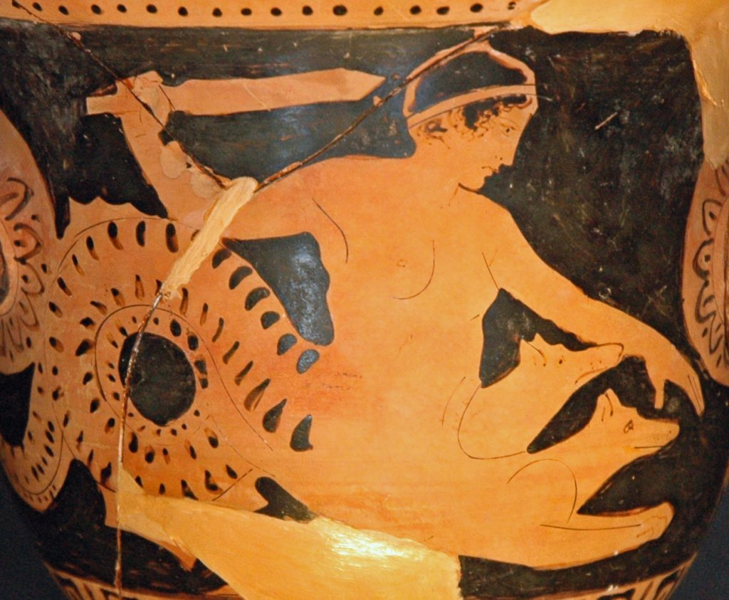 Scylla on ancient Greek vase