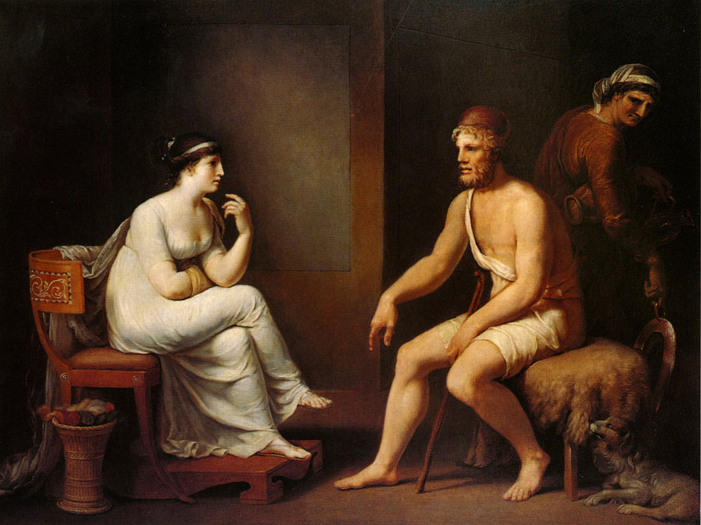 Penelope and Odysseus in conversation