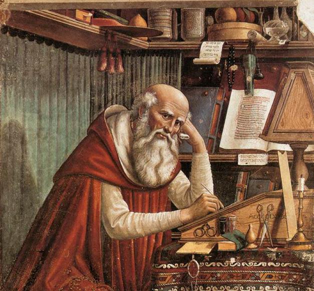 Jerome pondering translation